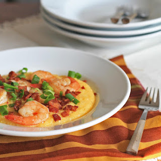Smoky Bacon and Cheddar Shrimp and Grits