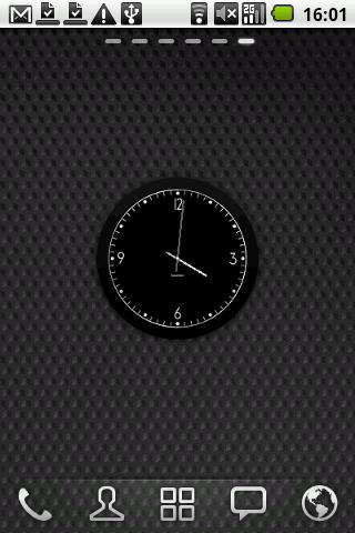 Fabian's Black clock widget