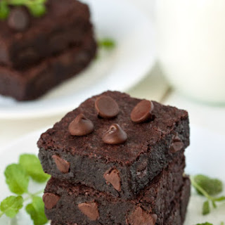 Gluten-Free Mint Chocolate Chip Brownies