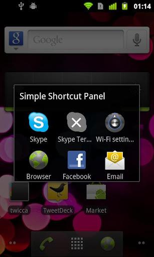 Simple Shortcut Panel Free