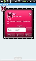Screenshot of GO SMS THEME/PnkPolkaDot