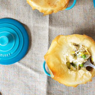 Chicken Pot Pie with Leeks, Asparagus and Peas