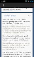 Screenshot of Italian English Translator
