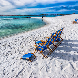 Paradise Blues by Ian Van Schepen - Landscapes Travel ( florida, fine art photography, travel, beach, white sand )