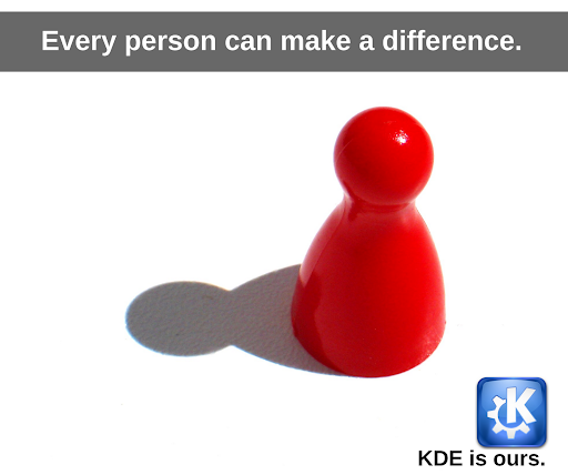 Every person can make a difference: KDE is ours
