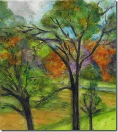 Oak Trees, early fall