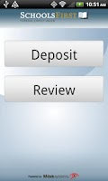 Screenshot of SchoolsFirst FCU eDeposit
