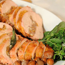 Sweet Sausage, Sage, and Hazelnut-Stuffed Turkey Breast
