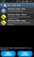 Screenshot of Hungarian Highway Info