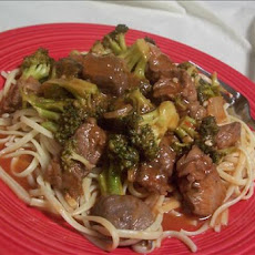 Spicy Linguine, Beef and Broccoli