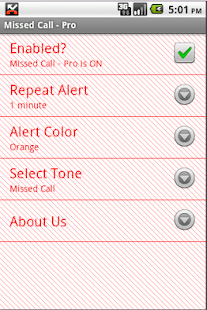 Missed Call - Pro - screenshot