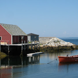 by Elizabeth Donovan-Jenkins - Novices Only Landscapes ( marine, water, peggy's cove, low tide, fishing )