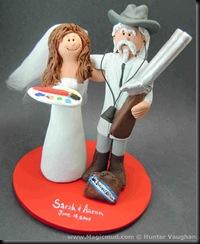 University Of Mississippi Wedding Cake Topper
