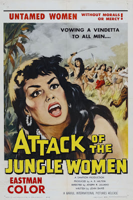 Attack of the Jungle Women (1959, USA) movie poster