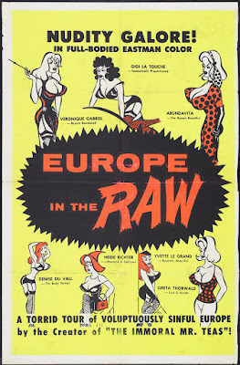 Europe in the Raw (1963, USA) movie poster