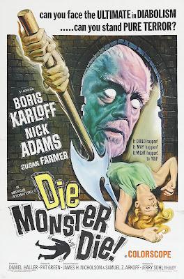 Die, Monster, Die! (1965, UK / USA) movie poster