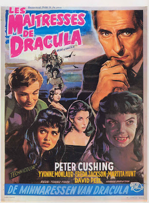 The Brides of Dracula (1960, UK) movie poster
