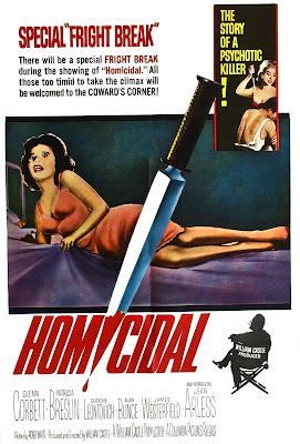 Homicidal (1961, USA) movie poster