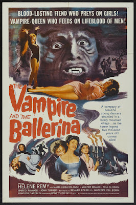 The Vampire and the Ballerina (L'Amante del vampiro / The Vampire's Lover) (1960, Italy) movie poster