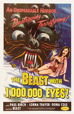 The Beast with a Million Eyes (aka The Beast with 1,000,000 Eyes) (1955, USA) movie poster