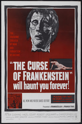 The Curse of Frankenstein (1957, UK) movie poster