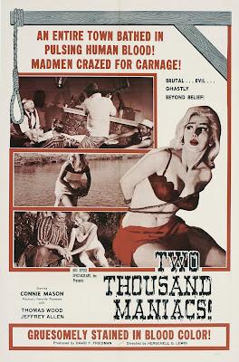 Two Thousand Maniacs! (aka 2,000 Maniacs) (1964, USA) movie poster