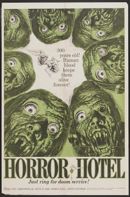 Horror Hotel (aka The City of the Dead) (1960, UK) movie poster