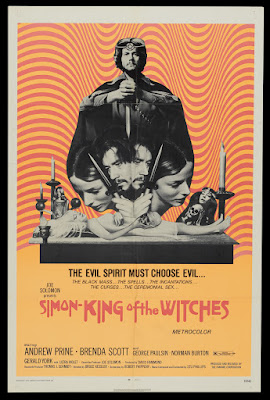 Simon, King of the Witches (1971, USA) movie poster