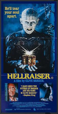 Hellraiser (1987, UK) movie poster