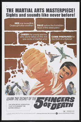5 Fingers of Death (Tian xia di yi quan, aka Five Fingers of Death, aka King Boxer) (1972, Hong Kong) movie poster