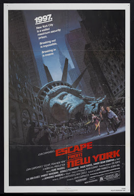 Escape from New York (1981, UK / USA) movie poster