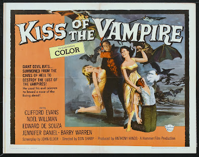 The Kiss of the Vampire (1963, UK) movie poster