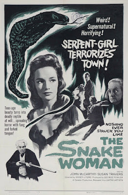 The Snake Woman (1961, UK) movie poster