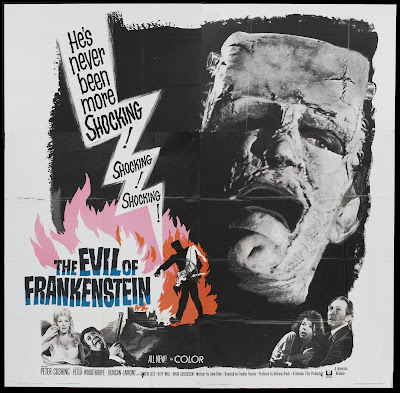 The Evil of Frankenstein (1964, UK) movie poster