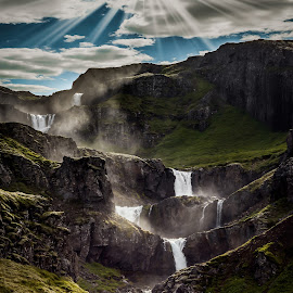 Waterfall drama in Iceland by Arnar Sigurbjörnsson - Landscapes Waterscapes ( klifbrekkufossar, iceland, east iceland, visit iceland, travel around iceland, mjoifjordur, icelandic waterfalls, egilsstadir, mjóifjörður, egilsstaðir )