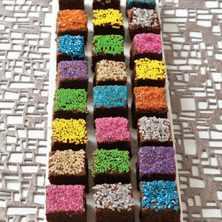 Decorated Brownie Bites