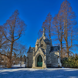 Mausoleum at Spring grove Cemetery by Leon Herbert - Buildings & Architecture Places of Worship ( spring grove cemetery, photomatixpro5, ohio, leon herbert photography, cincinnati )