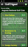 Screenshot of Golf Digest Course Critic