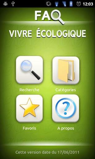 FAQ Vivre écologique