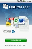 Screenshot of OnSite Files