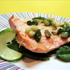 Steamed Salmon With Snow Peas