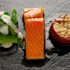 Confit Salmon With Caramelised Apples