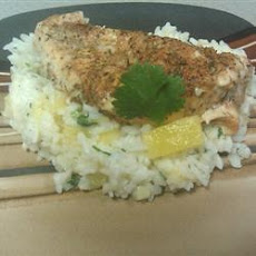 Caribbean Chicken with Pineapple-Cilantro Rice