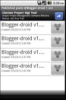 Screenshot of Blogger-droid