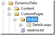 Copying Details.aspx to the CustomPages <TableName>folder