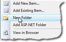 Select New Folder from the context menu