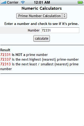Numeric Calculators