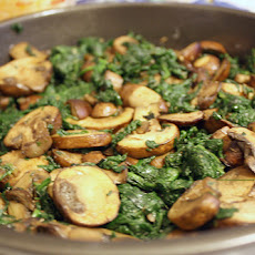 Saag Khumb (Spinach and Mushrooms)
