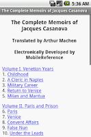 Screenshot of Memoirs of Jacques Casanova