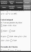 Screenshot of Formules Maths Bac S